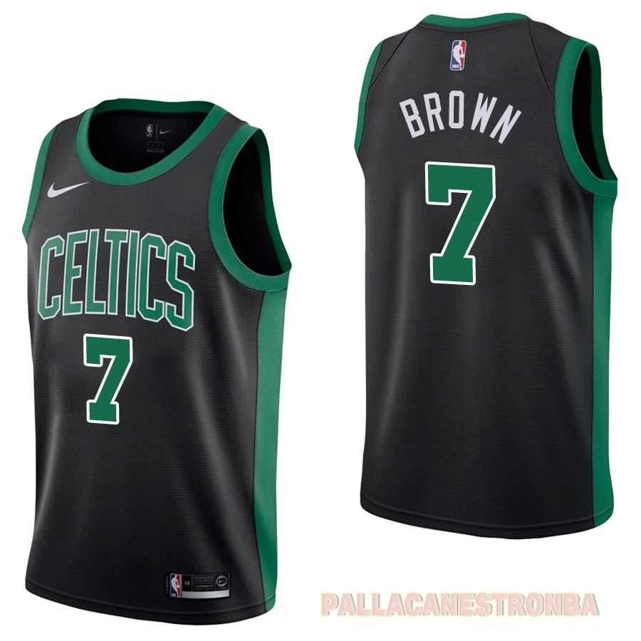 Offerte Maglia NBA Nike Boston Celtics NO.7 Jaylen Brown Nero Statement 2017-18