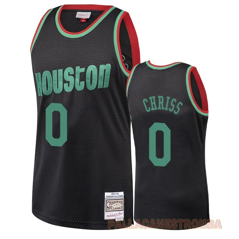 Offerte Maglia NBA Houston Rockets 2018 Natale NO.0 Marquese Chriss Retro Nero