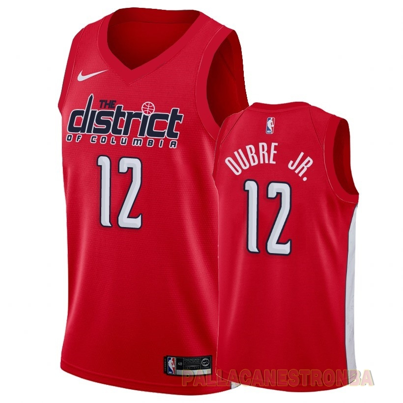 Offerte Maglia NBA Earned Edition Washington Wizards NO.12 Kelly Oubre Jr. Rosso 2018-19