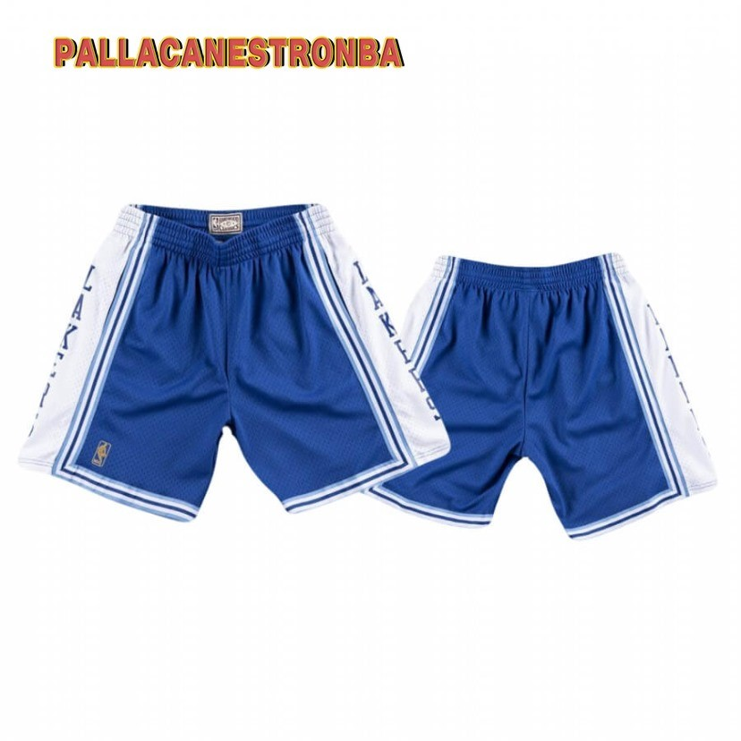 Offerte Pantaloni Basket Los Angeles Lakers Blu Hardwood Classics