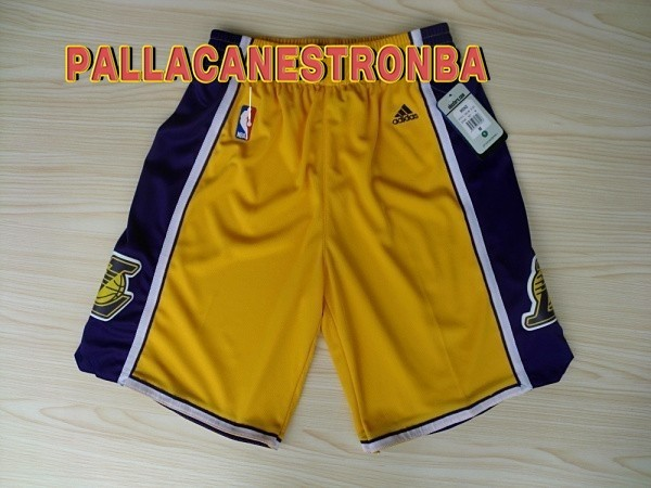 Offerte Pantaloni Basket Los Angeles Lakers Giallo 2018